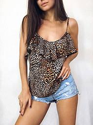 Женская летняя майка из софта M, тигровый