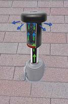 Фильтр Вейджер (США) для очистки воздуха от канализационных газов для монтажа на фановую трубу на крыше дома, фото 2