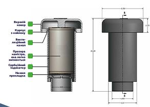 Фильтр Вейджер (США) для очистки воздуха от канализационных газов для монтажа на фановую трубу на крыше дома, фото 3