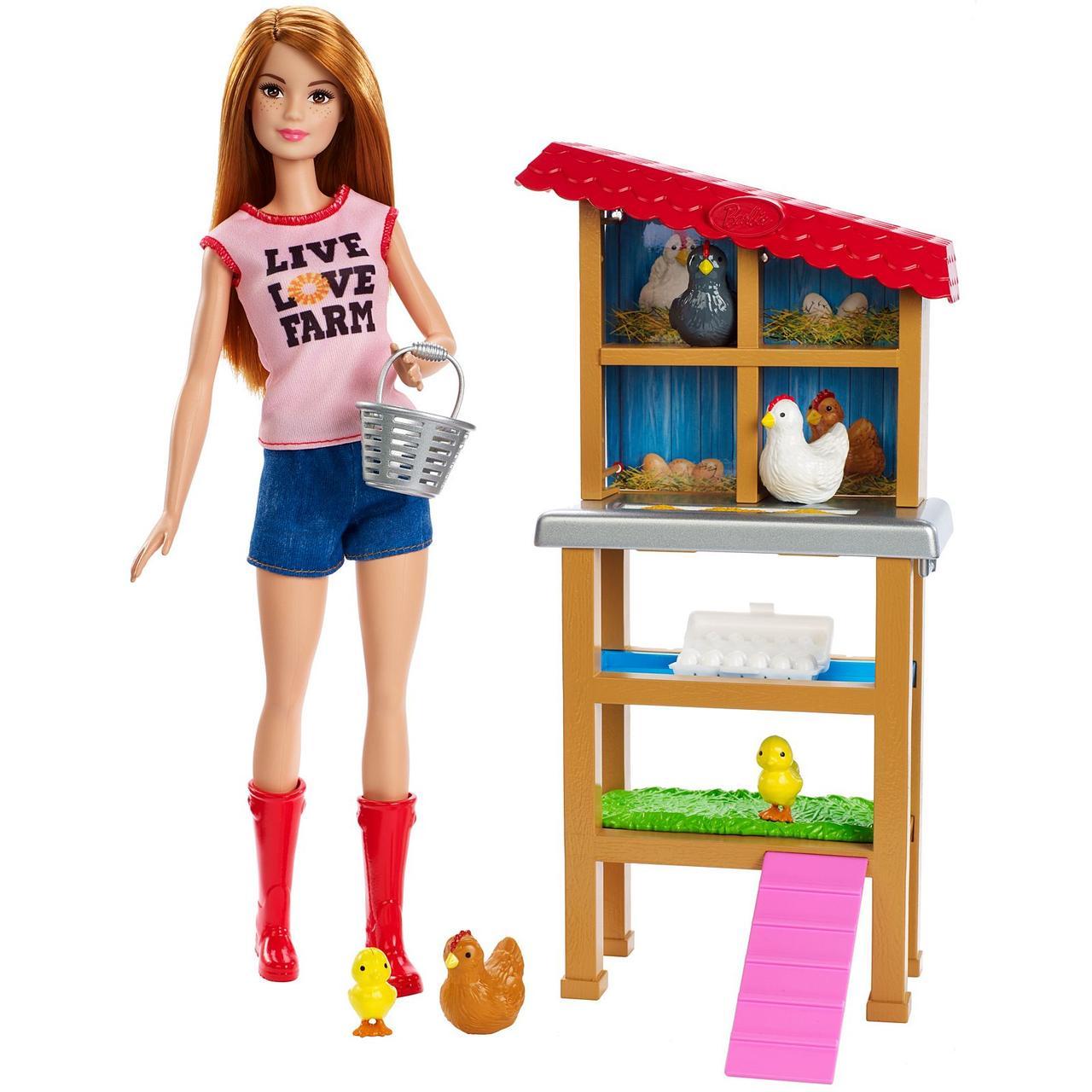 Кукла Барби куриная ферма