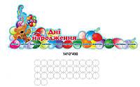Стенд для школи: Дні народження Кульки повітряні