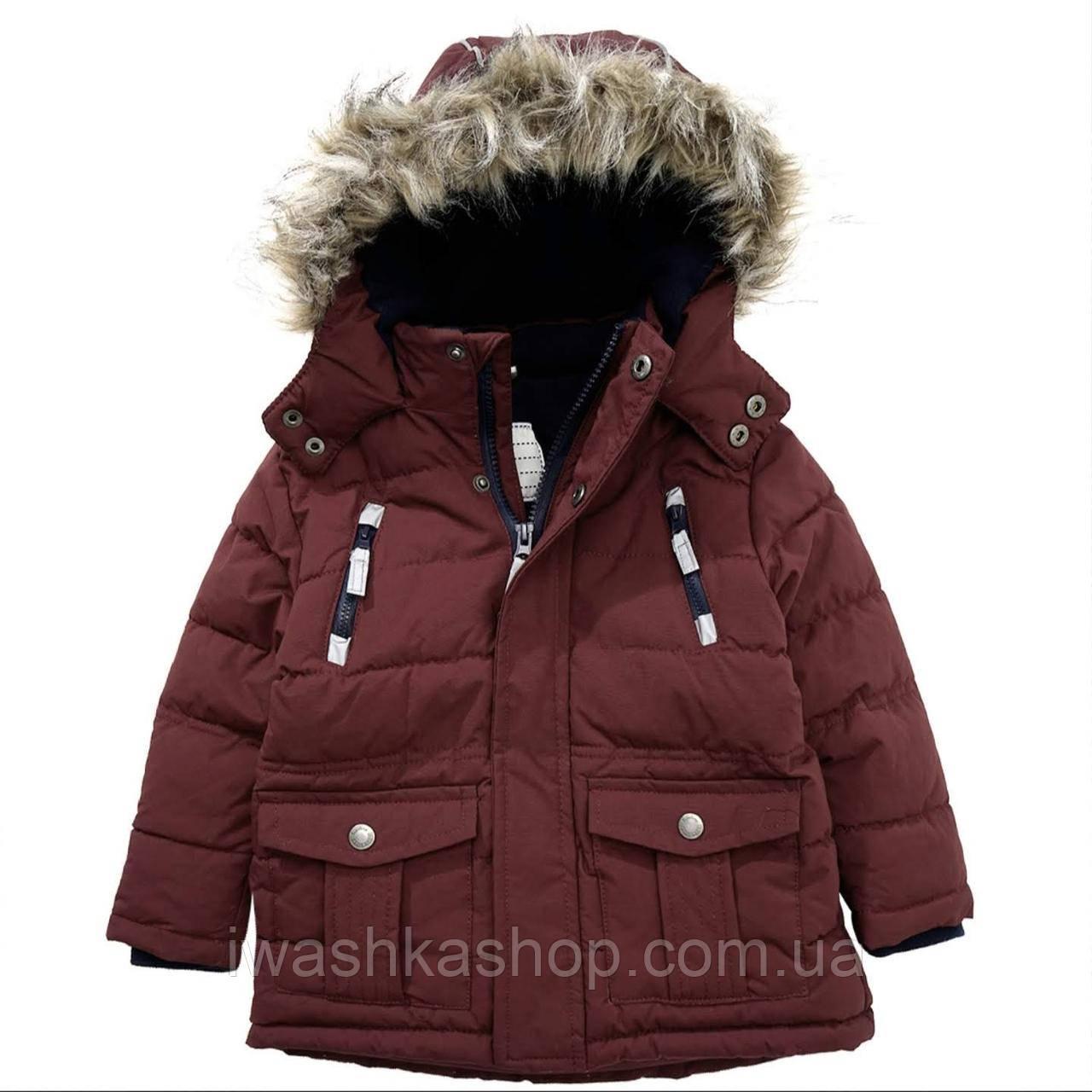 Зимняя куртка с мехом на мальчика 4 - 5 лет, р. 110, Topolino, Германия