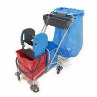 Тележка на колесах для уборки помещений