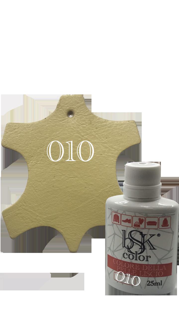 """Краска для гладкой кожи  """"bsk-color""""  25ml соломенный цвет №010"""