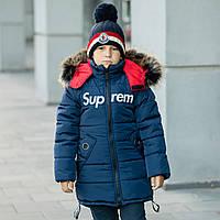 """Дитяча зимова куртка на флисовой підбивці для хлопчика """"Супрім"""", фото 1"""