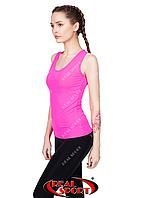Спортивная майка женская Пуш-ап RSM 13, розовая (бифлекс, без р-р)
