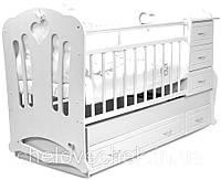 """Детская кроватка-трансформер с комодом """"Вивальди"""" 3 в 1 Angel baby"""
