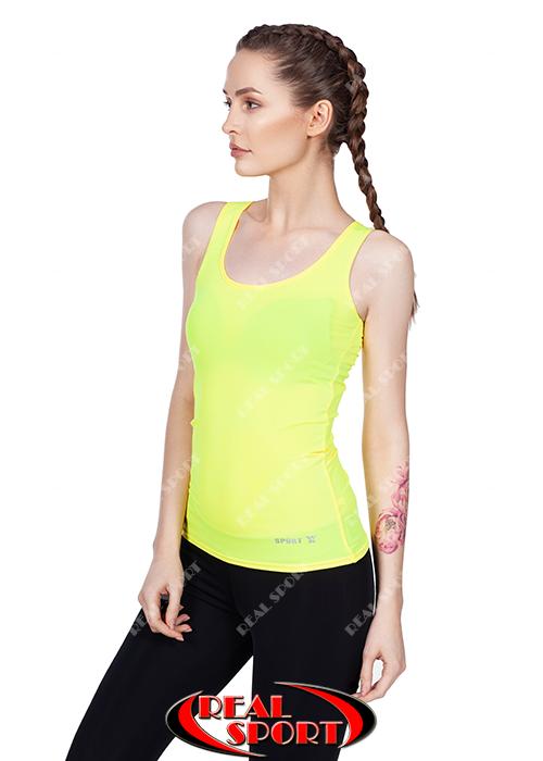 Спортивная майка женская RSM 50, желтая (бифлекс, р-р S-XL)