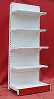 Торговые односторонние стеллажи «Торпал» 220х90 см., белый, Б/у, фото 1