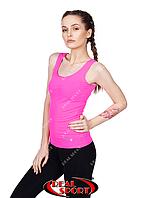 Спортивная майка женская RSM 50, розовая (бифлекс, р-р S-XL)