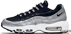 Женские кроссовки Nike Air Max 95 Anniversary QS Metallic Platinum/Black/White Quickstrike 814914-001, Найк Аир Макс 95