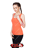 Спортивная майка женская RSM 50, оранжевая (бифлекс, р-р S-XL)