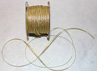 Лента парча 906 золото 4 мм