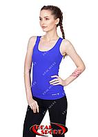 Спортивная майка женская RSM 50, синяя (бифлекс, р-р S-XL)