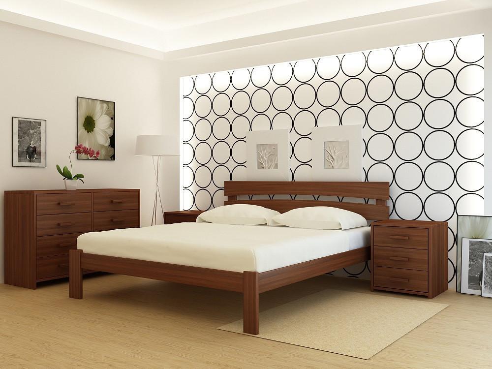 """Кровать деревянная TM """"YASON"""" Tokyo Лак (Массив Ольхи либо Ясеня)"""