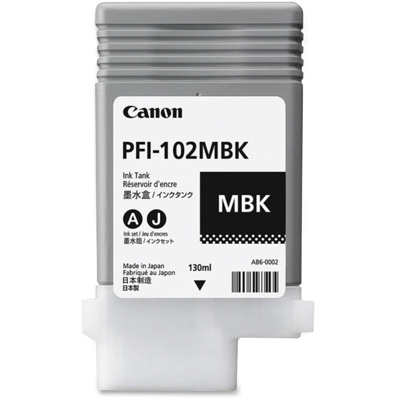 Картридж Canon PFI-102MBK для iPF500/600/700, Matte Black, 130 мл