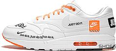 "Мужские кроссовки Nike Air Max 1 SE LX ""Just Do It"" White AO1021-100, Найк Аир Макс 1"