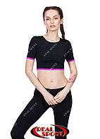 Спортивний топ футболка RST 15, чорно-фіолетовий (біфлекс, без р-н)