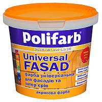 Краска акриловая Polifarb Универсалфасад фасадная и интерьерная белая колеруется