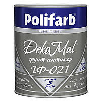 Грунтовка алкидная антикоррозийная Polifarb ГФ-021 DekoMal для металла 0,9 кг