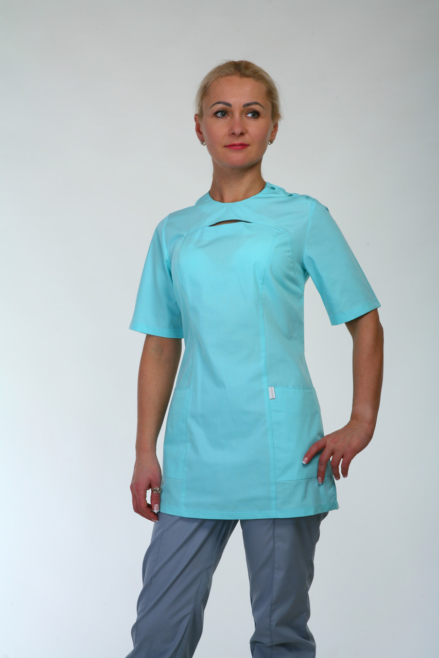 Медицинский женский костюм HL 22112 батист 42-66 р