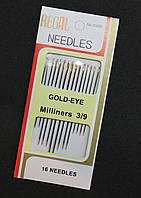 Набор иголок с золотым ушком (16 шт в упаковке)