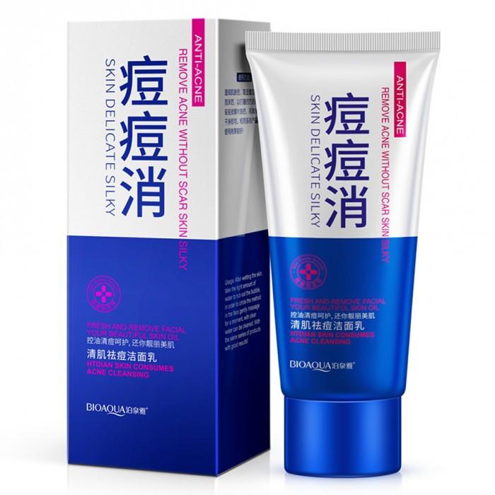 Пенка для умывания проблемной кожи BioAqua Pure Skin Anti Acne-light Print & Cleanser, 100 мл
