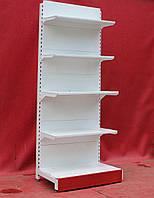 Торговые односторонние стеллажи «Торпал» 220х60 см., белый, Б/у, фото 1