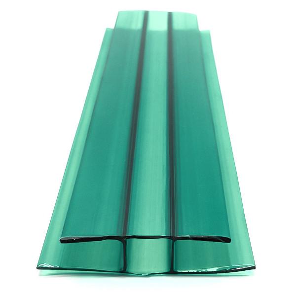 Профиль Vizor соединительный неразъемный, зеленый, 6 м, для листов поликарбоната 6 мм