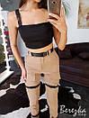 Женский брючный костюм на лето с топом и джоггерами 66kos1331Е, фото 2