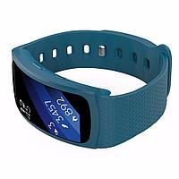 Силиконовый ремешок для фитнес браслета Samsung Gear Fit 2 / Fit 2 Pro (SM-R360 / R365) - Navy Blue L