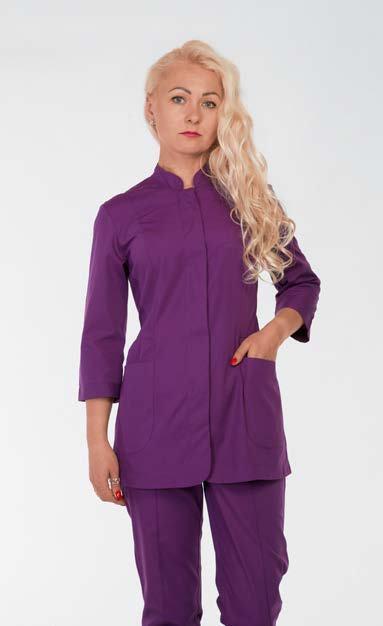 Медицинский женский костюм HL 22115 батист 42-52 р (фиолетовый)