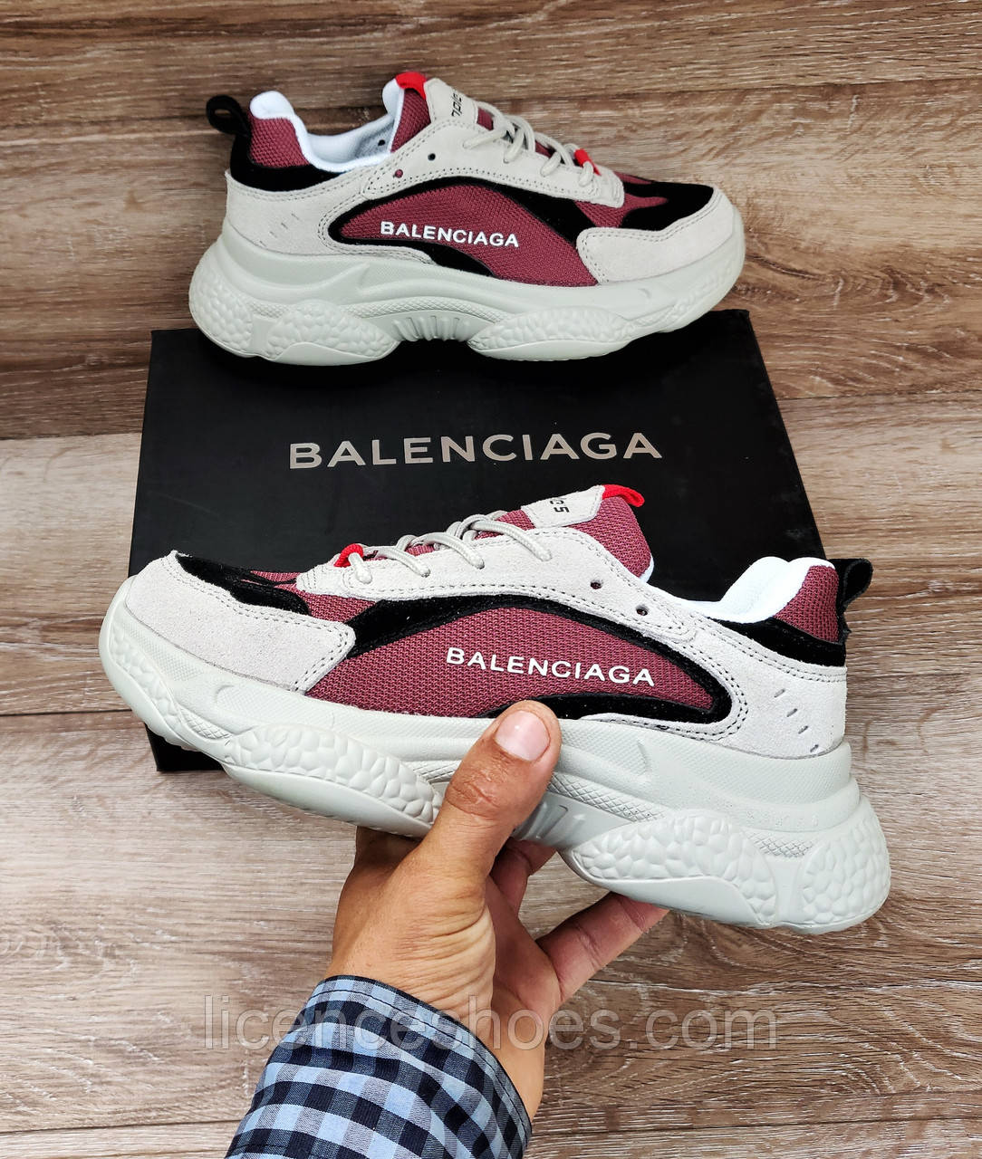 Женские кроссовки Balenciaga Triple S Grey/Brown/Black