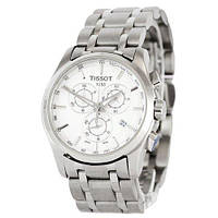 Tissot T-Classic Couturier Chronograph Steel Silver-White