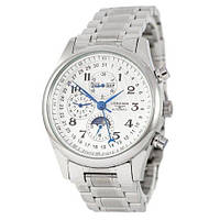 Longines Master Collection Moonphases Steel Silver-White