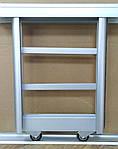 Раздвижные двери шкафа купе, комплект 1000х600, 2 двери, серебро