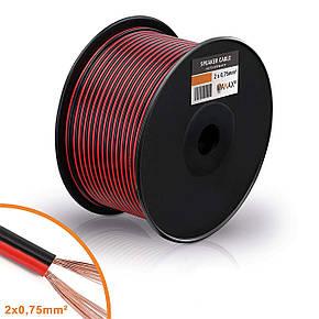Акустический кабель Manax SC2075RB-100 2x0,75 мм² CCA, фото 2