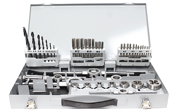 Набір ручних мітчиків і плашок DIN 352/223 HSSG M3-M12 + направляючі 52 шт. GSR Німеччина