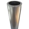 Труба-сэндвич дымоходная D-150/220 мм S-0,8 мм L-1 метр AISI 321 нержавейка/оцинковка - «Stalar», фото 3