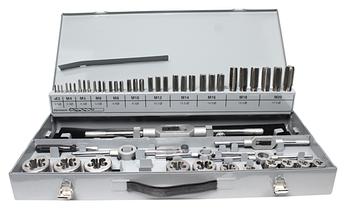 Набір ручних мітчиків і плашок DIN 352/223 M3-M20 HSSG 56шт.  GSR Німеччина (аналог 00708090)
