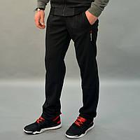 Мужские спортивные штаны Reebok (Рибок), Трикотаж лакост (пике) / Размеры 46-52 - черные