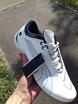 Мужские кроссовки PUMA BMW.Кожа,белые, фото 2