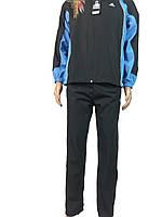 Спортивный костюм адидас из плащевки для подростка,юниора,р-р 38-44 .1030 adidas черный