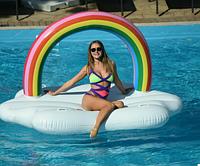 Матрас надувной для плавания Облако с радугой (для пляжа и бассейна) Размер 245 х 145 см , фото 1