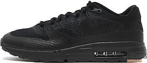 Мужские кроссовки Nike Air Max 1 Ultra Flyknit Triple Black 856958-001, Найк Аир Макс 1, фото 2