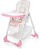 Детский стульчик для кормления ребенка Moolino ACE 1015 (розовый с рисунками) (дитячий стілець для годування)