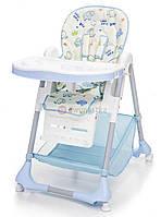 Детский стульчик для кормления ребенка Moolino ACE 1015 (голубой с рисунками) (дитячий стілець для годування)