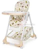 Детский стульчик для кормления ребенка Moolino ACE 1015 (бежевый с рисунками) (дитячий стілець для годування)