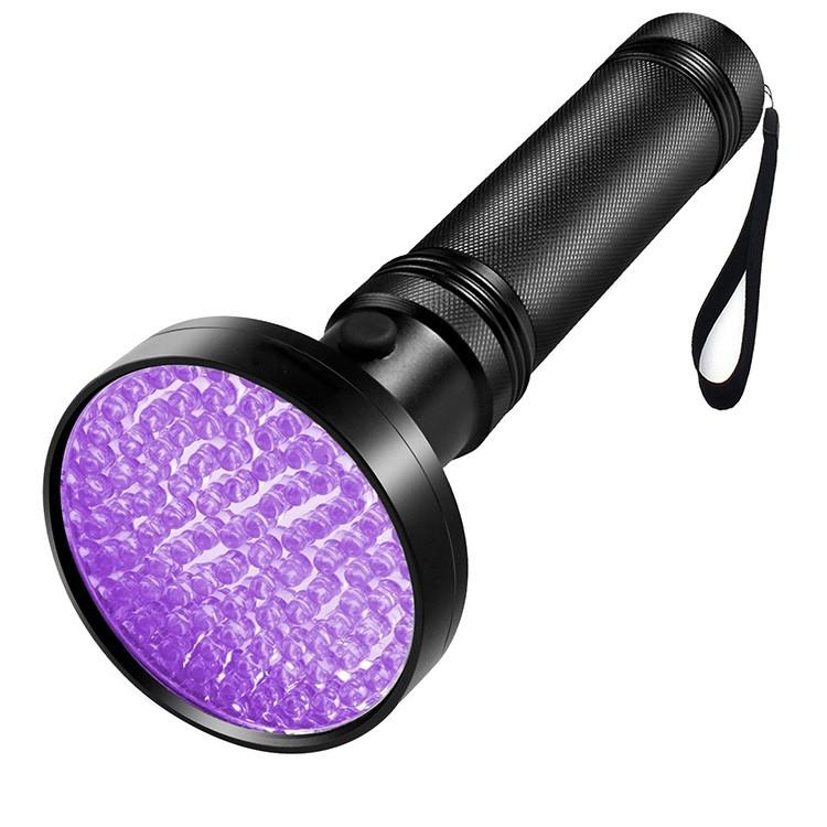 Ультрафіолетовий ліхтар SUNROZ UV-6405 детектор 100 LED Чорний (SUN4798)