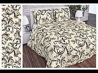 Полуторный комплект постельного белья рисунок вензель Ткань  бязь